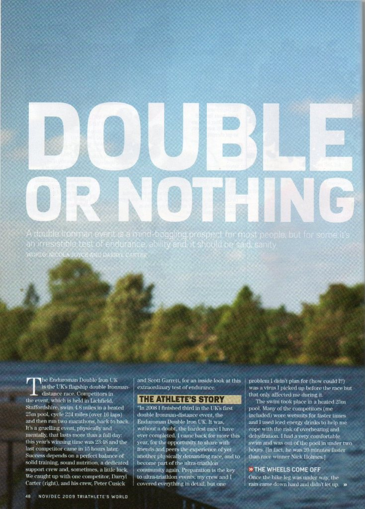Nov 2009 - Triathletes World P48