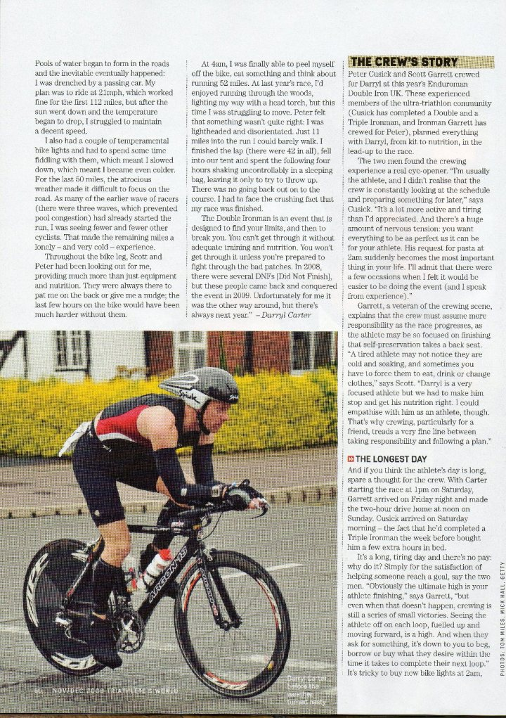 Nov 2009 - Triathletes World P50