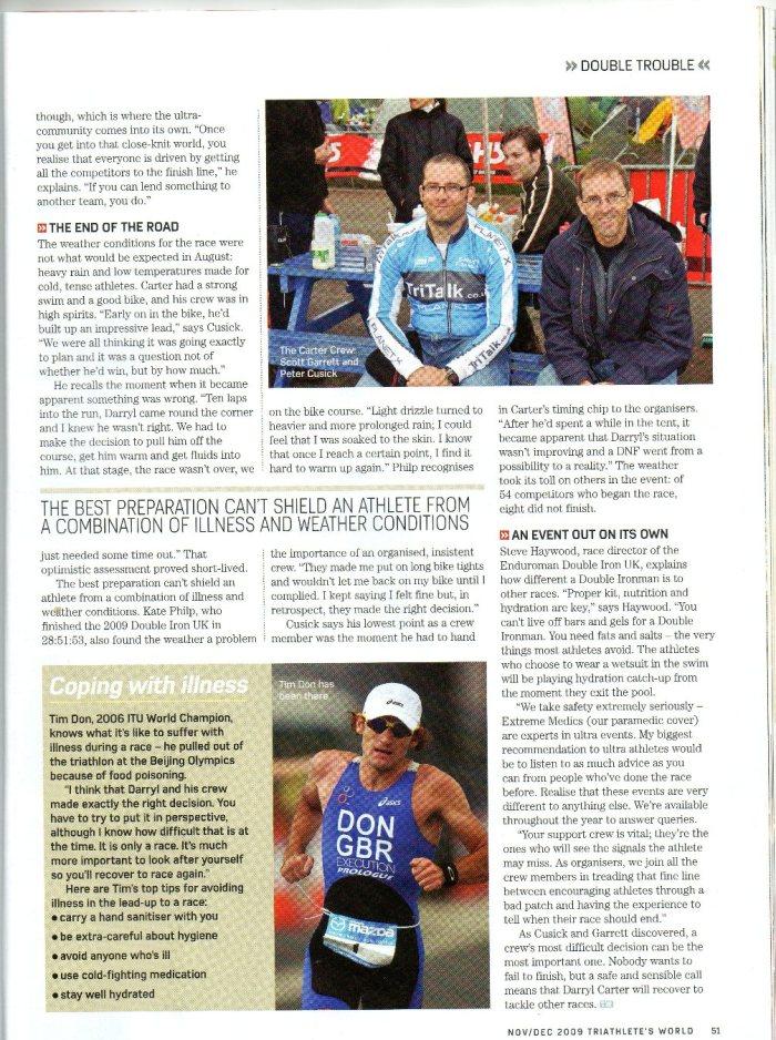 Nov 2009 - Triathletes World P51