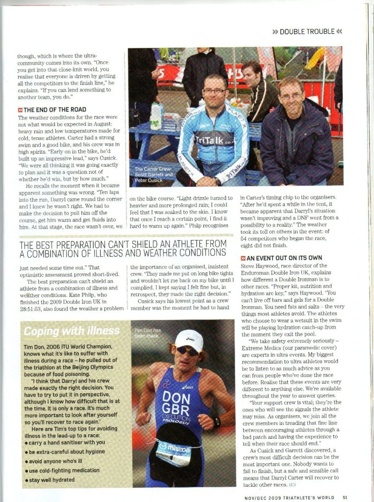 Nov 2009 - Triathletes World P51