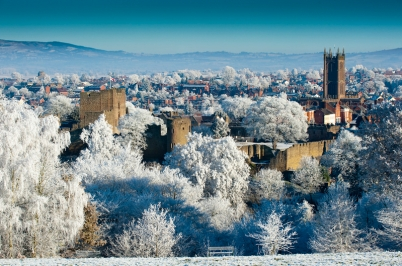 Ludlow Castle winter