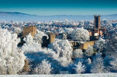 Ludlow Castle winter
